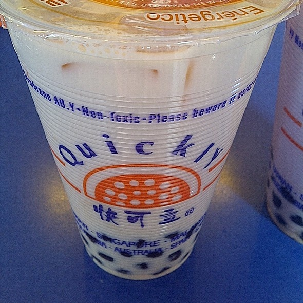 Best taro bubble tea I ve found   at Quickly Quickly Taro Bubble Tea