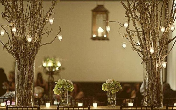 Branches in vases for centerpieces tree pinterest
