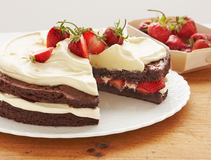 Brownie & Strawberry Shortcakes Recipe — Dishmaps