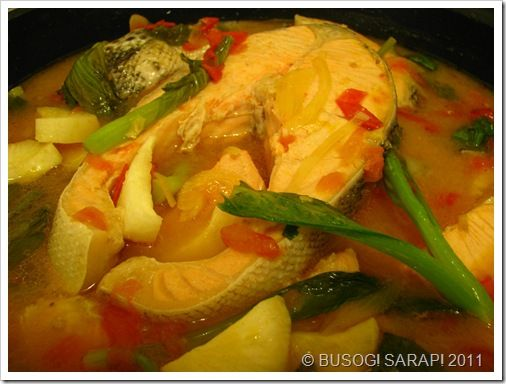 BUSOG! SARAP!: SINIGANG NA SALMON SA MISO (Salmon in Filipino Sou...