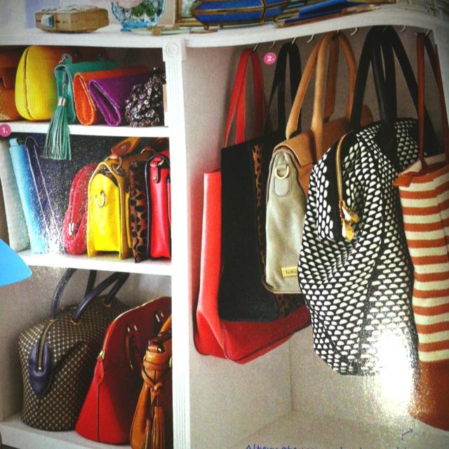 Purse organizer in walkin closet she 39 s crafty pinterest - Purse organizer for closet ...