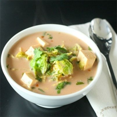 Zesty Coconut-Lime & Tofu Soup | Veggie treats | Pinterest