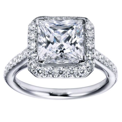 Princess Cut Halo Engagement Ring Setting 28 1