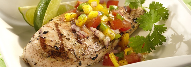 ... Grilled Island Chicken with Tropical Salsa. http://www.biggreenegg.com