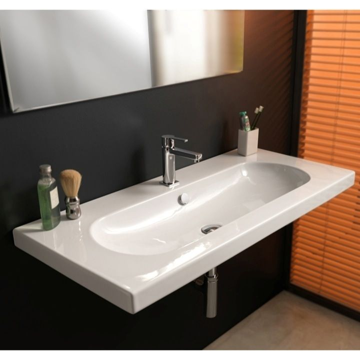 Long Narrow Bathroom Sinks with Narrow Wall Mounted Bathroom Sinks ...