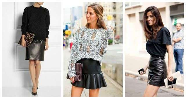 Mama Fashion Files: Fall Trend: Leather Skirts