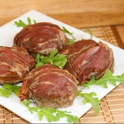 Prosciutto Wrapped Burgers | Food..... Glorious Food! | Pinterest