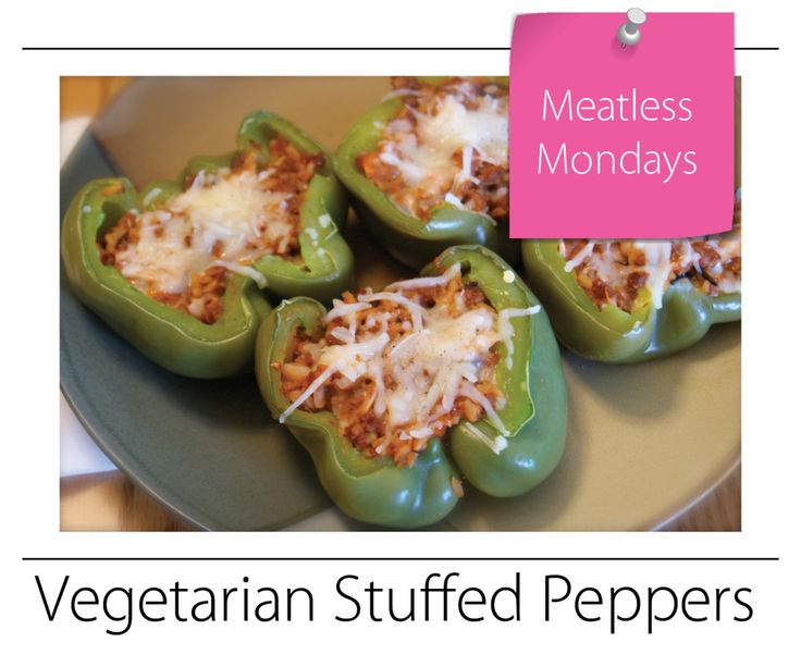 Vegetarian Stuffed Peppers | Recipes | Pinterest