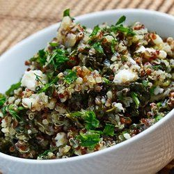 Spinach and Feta Quinoa Salad | healthy snacks | Pinterest