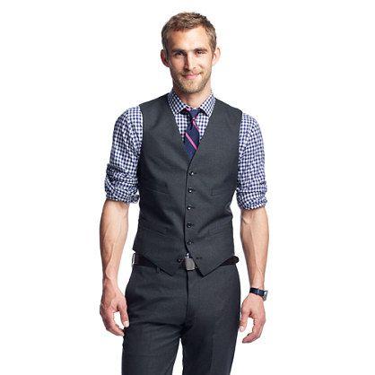 J B Ludlow Ludlow suit vest in Italian wool | What to Wear | Pinterest