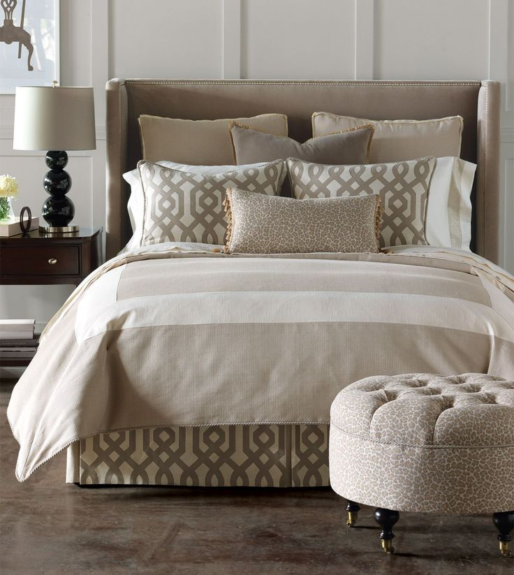 Neutral colors for bedroom no place like home pinterest Master bedroom bed linens