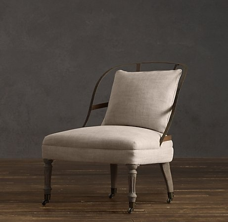 Restoration hardware couturier 39 s chair bedroom for Restoration hardware metal chair