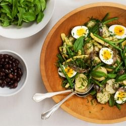 ... Potato and Green Bean Salad with Anchovy Caper Garlic Vinaigrette