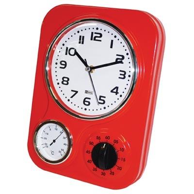 Wall Clock Kitchen Retro Metal Red Wall Clocks Pinterest