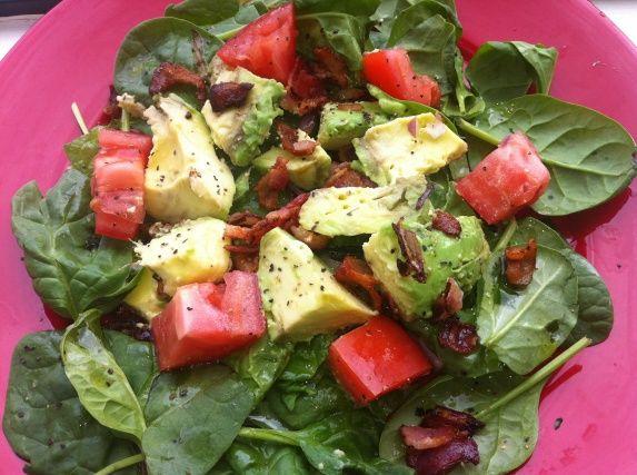 ... Friendly Recipe #9: Zesty Cobb Salad w/ Spinach, Bacon & Avocado