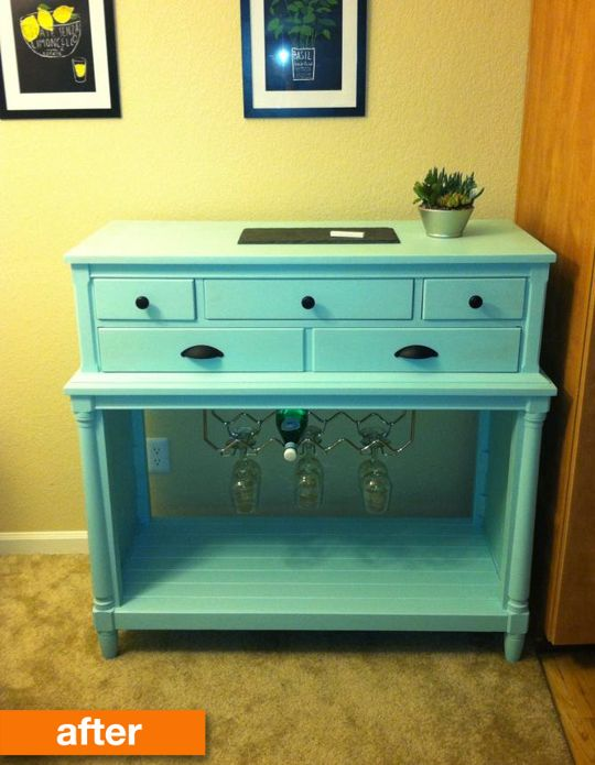 Before After A Boring And Brown Dresser Turns Cool And Clever