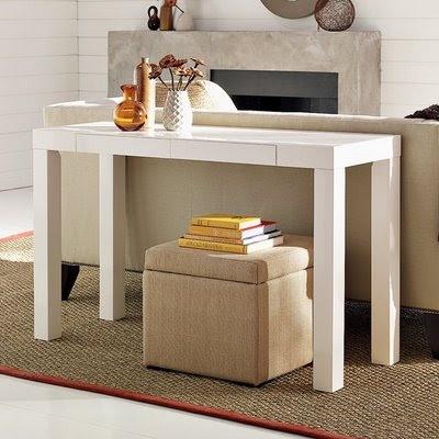 Parsons desk west elm home decor pinterest - West elm parsons console ...