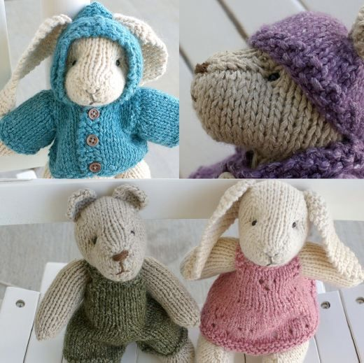 Free Knitting Patterns For Bunny Rabbits : Rabbit & Bear Free pattern Knitting Projects Pinterest