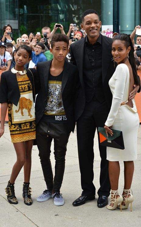 Willow Smith and Jaden Smith With Will Smith & Jada Pinkett Smith