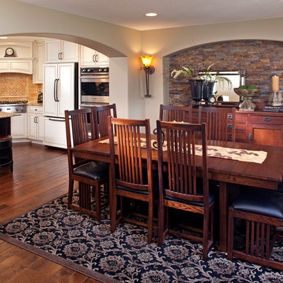 Stone accent wall in dining room house pinterest - Dining room accent walls ...