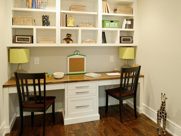 Wonderful double desk office space home sweet home for Double desks for small spaces