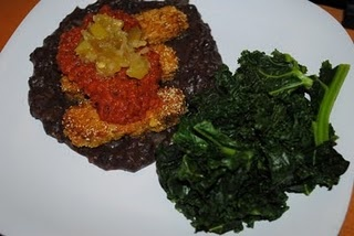 Cornmeal-Crusted Tempeh with Smoked Tomato Sauce, Green Chile Relish ...