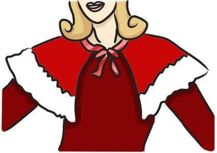 Mrs. Claus cape | Craft - How to..... | Pinterest
