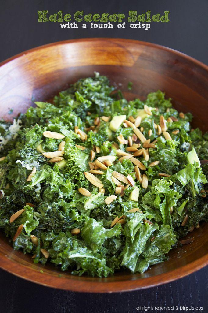 Kale caesar salad (food recipe) | Food Whore | Pinterest