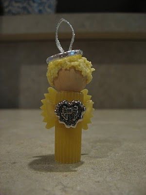 Sweet Pasta Angel tutorial #crafts for #Christmas