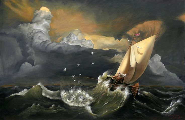 Fishing in the storm prophetic art pinterest for Too cool fishing