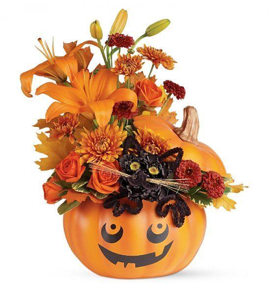 Black cat halloween bouquet autumn awesomeness pinterest for Bouquet de fleurs halloween