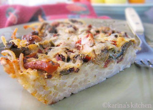 Gluten-Free Pasta Frittata Recipe with Goat Cheese