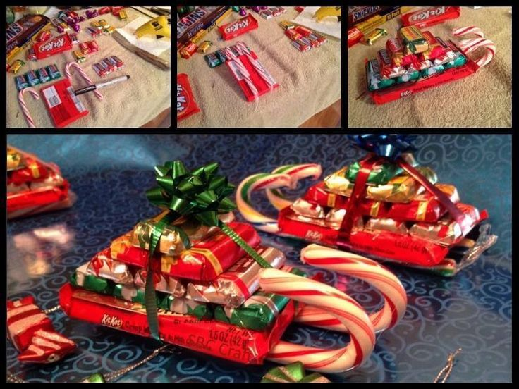 Items needed: Kit Kat regular sized bars, Candy Canes, Hershey Mini's ...
