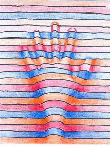 Line Design Art Activities : Op art hand lessons pinterest