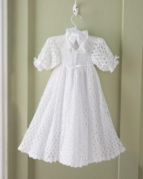Crochet Pattern For Christening Gown : christening gown crochet pattern wish list Pinterest
