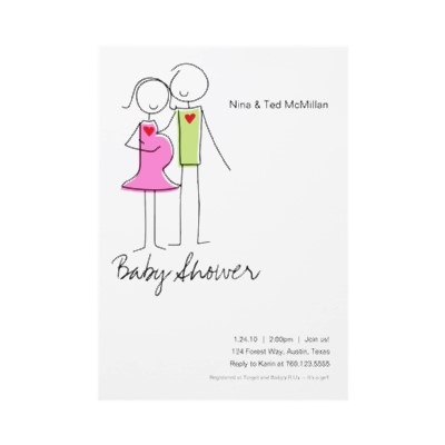 coed baby shower invitations 5x7 from