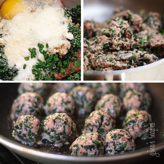 Skinny Italian Spinach Meatballs | Skinnytaste-using ground turkey and ...