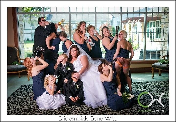 Naughty brides and bridesmaids