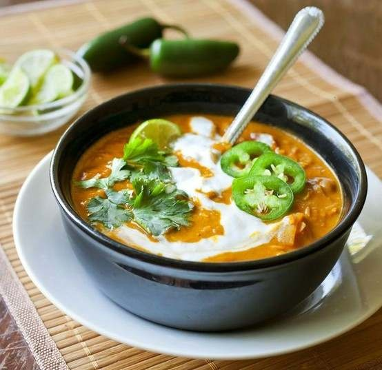RED LENTIL AND COCONUT CURRY SOUP | Recipes | Pinterest
