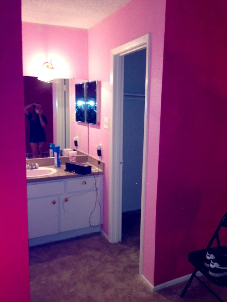 light pink walls bathroom bedroom home decor pinterest
