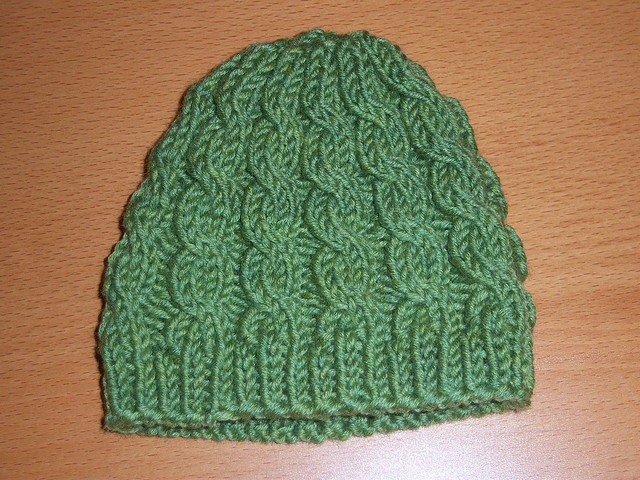 Free Knitting Patterns For Baby Hats On Pinterest : baby cable hat by twiceknit knitting Pinterest
