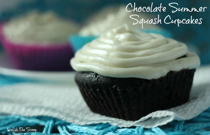 Chocolate Summer Squash Cupcakes