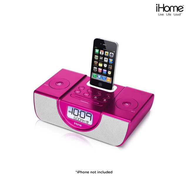 ihome dual alarm clock radio for iphone for the home pinterest. Black Bedroom Furniture Sets. Home Design Ideas