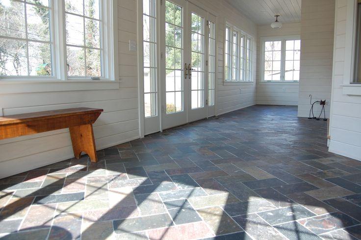 Slate Custom Cut Sunroom Floor Sunroom Pinterest