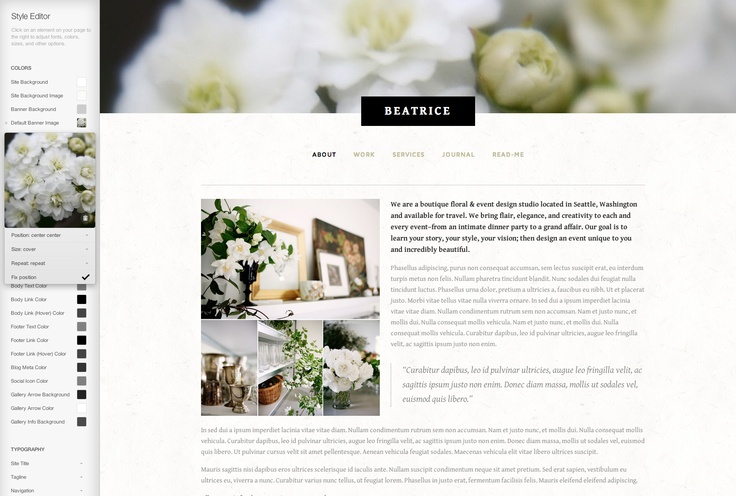 Beatrice - squarespace template | workspace | Pinterest