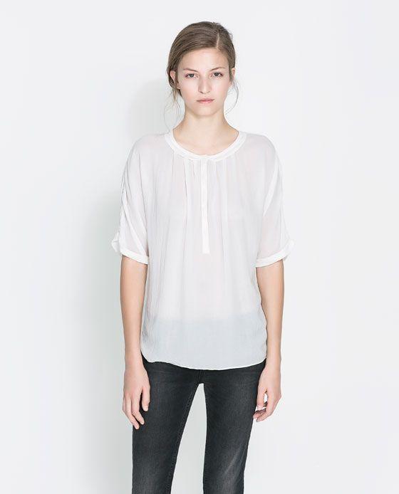 Zara Peter Pan Collar Blouse 30