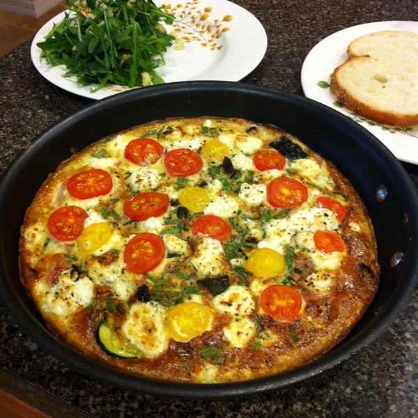 Grilled Zucchini Frittata with Goat Cheese and Cherry Tomatoes vi @Aggie's Kitchen