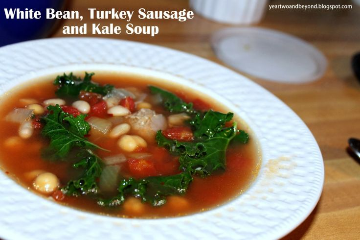 White Bean, Sausage and Kale Soup #italian #healthy #soup #dinner
