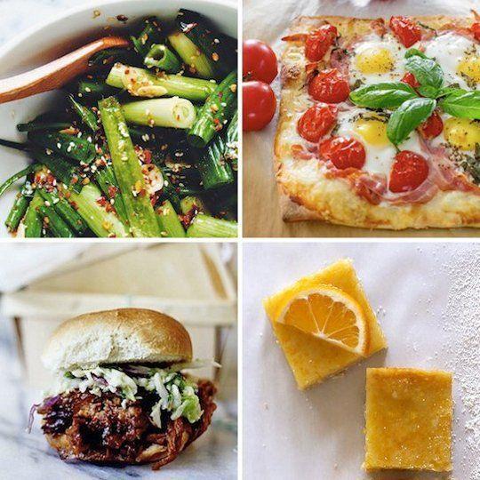 Scallion Kimchi & Pancetta and Gruyere Breakfast Pizza — Delicious ...