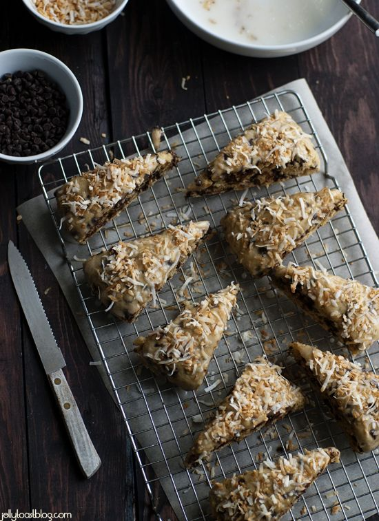 Jelly Toast: chocolate coconut scones | guest post on my baking ...
